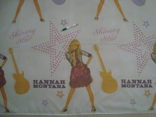 Hannah Montana mintájú voile függöny , 180 cm magas (11539)
