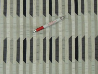 Drapp-ezüst-barna-fekete, modern dekorfüggöny, 280 cm magas (7232)