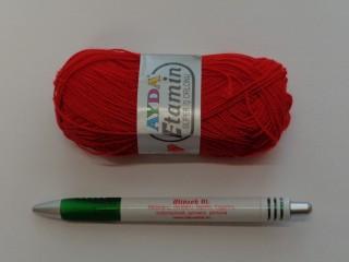 Ayda Etamin horgolófonal, piros (7308)