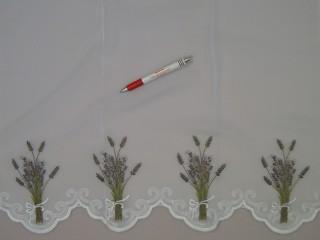 Levendula mintás voile függöny, 220 cm magas (7322)