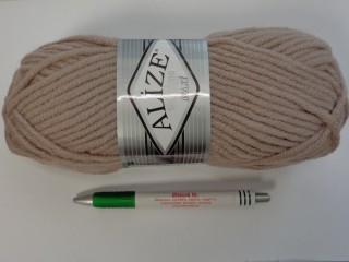 Alize Superlana Maxi kötőfonal, világos barna (2709-10)