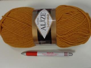 Alize Lanagold kötőfonal, mustár (7385-645)