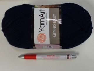 Yarn Art - Merino Bulky, sötétkék (7398-583)