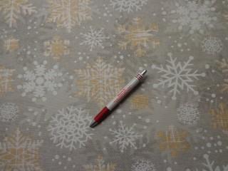 Loneta, karácsonyi vászon, fehér-arany hópelyhes (7466)