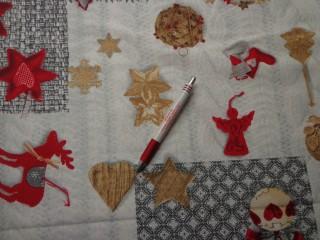 Loneta, karácsonyi vászon, halvány szürke rénszarvas-csillag-szív (7473)