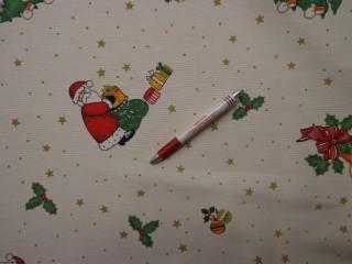 Loneta, karácsonyi vászon, mikulásos (7477)