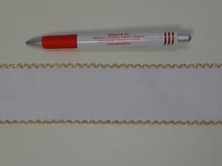 Kongré szalag, arany széllel, 5 cm széles  (7479)