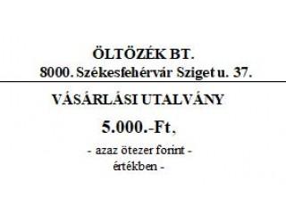 Ajándékutalvány (7487)