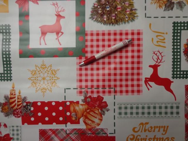 Viaszos vászon, karácsonyi, szarvasos, fenyős (7499)