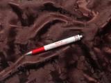 Brokát selyem, sötét barna (7616)