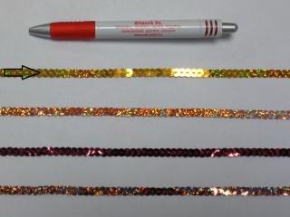 Egysoros flitter szalag, arany (7631)