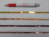 Egysoros flitter szalag, rozsda, hologramos (7632)