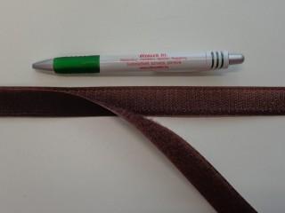 Varrható tépőzár párban, 2 cm széles, barna (7675)