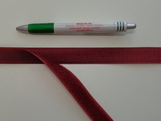 Varrható tépőzár párban, 2 cm széles, bordó (7678)