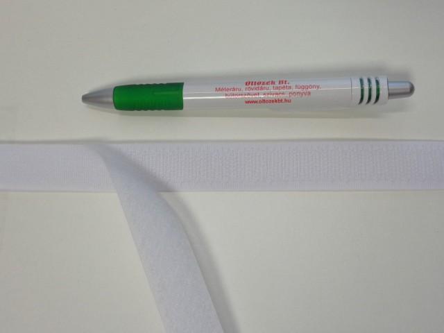Varrható tépőzár párban, 2 cm széles, fehér (7680)