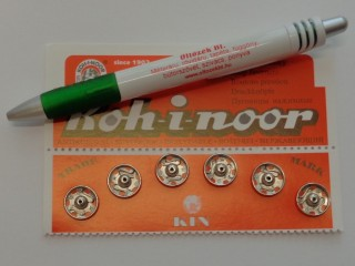 Varrható patent, ezüst, méret 5, átmérő 13,9 mm (2804-9)