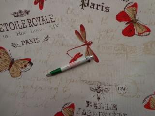 Loneta, lepkés-szitakötős kerti bútor vászon (7739)