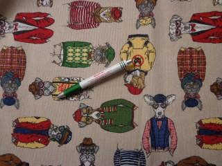 Loneta, vicces kutyás kerti bútor vászon (7740)