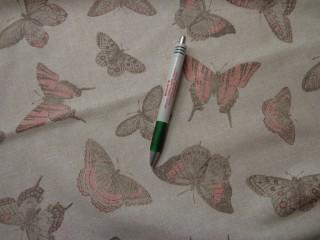 Loneta, drapp-lazac lepkés kerti bútor vászon (7743)