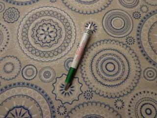 Loneta, kék-fehér retro mintás kerti bútor vászon (7748)