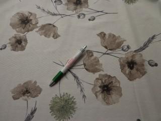 Loneta, barna pipacsos kerti bútor vászon (7754)