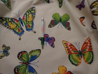 Loneta, színes lepkés kerti bútor vászon (7755)