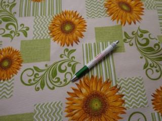 Loneta, indás napraforgós kerti bútor vászon (7756)