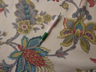 Loneta, lótuszvirágos kerti bútor vászon (7759)