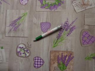 Loneta, levendulás-szíves kerti bútor vászon, barna (7812)