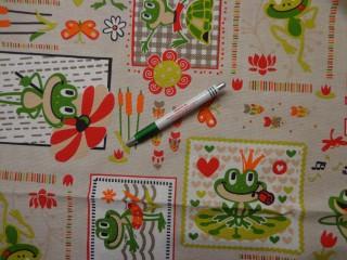 Loneta, békás, halacskás kerti bútor vászon (7813)