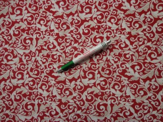 Loneta,bordó-drapp indás kerti bútor vászon (7826)