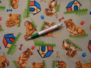 Loneta, barna kutyás kerti bútor vászon (7831)