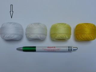 Gyöngy hímzőfonal (perlé), fehér (7903-7001)