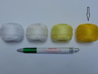 Gyöngy hímzőfonal (perlé), citromsárga (7906-1122)