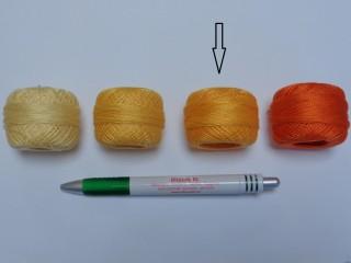Gyöngy hímzőfonal (perlé), világos narancs (7909-2116)
