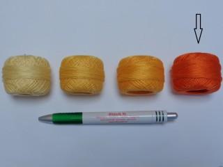 Gyöngy hímzőfonal (perlé), sötét narancs (7910-7330)