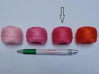 Gyöngy hímzőfonal (perlé), pink (7913-3418)