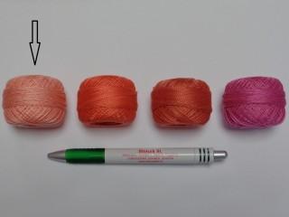 Gyöngy hímzőfonal (perlé), barack  (7919-7008)