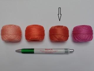 Gyöngy hímzőfonal (perlé), lazac (7921-7010)