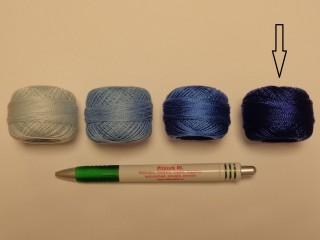 Gyöngy hímzőfonal (perlé), királykék (7930-7134)