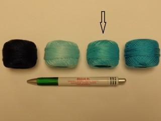 Gyöngy hímzőfonal (perlé), világos türkiz (7933-5906)