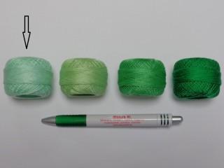 Gyöngy hímzőfonal (perlé), almazöld (7935-7212)