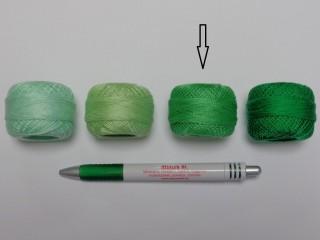 Gyöngy hímzőfonal (perlé), zöld (7937-7225)