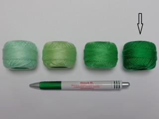 Gyöngy hímzőfonal (perlé), zöld  (7938-7227)