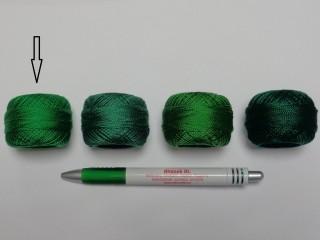 Gyöngy hímzőfonal (perlé), zöld  (7939-7228)