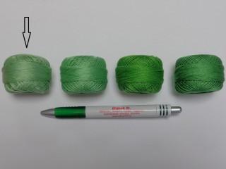 Gyöngy hímzőfonal (perlé), világos zöld (7943-7261)