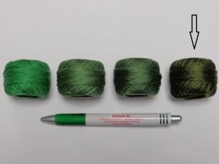 Gyöngy hímzőfonal (perlé), sötét keki (7950-8120)