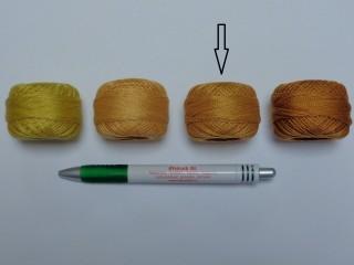 Gyöngy hímzőfonal (perlé), világos barna (7953-9532)