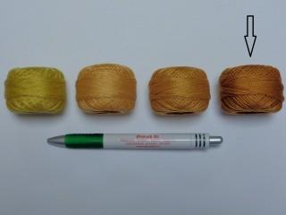 Gyöngy hímzőfonal (perlé), világos barna (7954-9536)