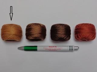 Gyöngy hímzőfonal (perlé), világos barna (7955-9320)